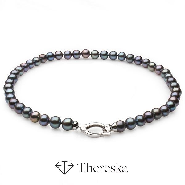 """00e517985 STRIEBRO 925 - Perlový náhrdelník """"Tahiti"""" - www.thereska.sk"""